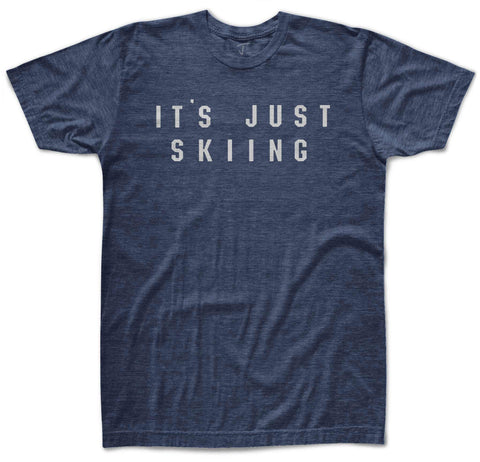 It's Just Skiing Tee - Blue