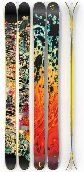 "The Metal ""BLACK SUNSHINE"" Ryan Schmies x J Collab Limited Edition Ski"