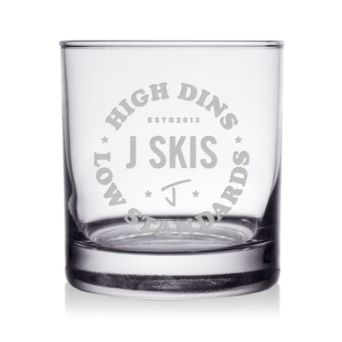 High Dins Whiskey Glass