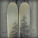 "The Metal ""LONE PINE"" Brooks Salzwedel x J Collab Limited Edition Ski"