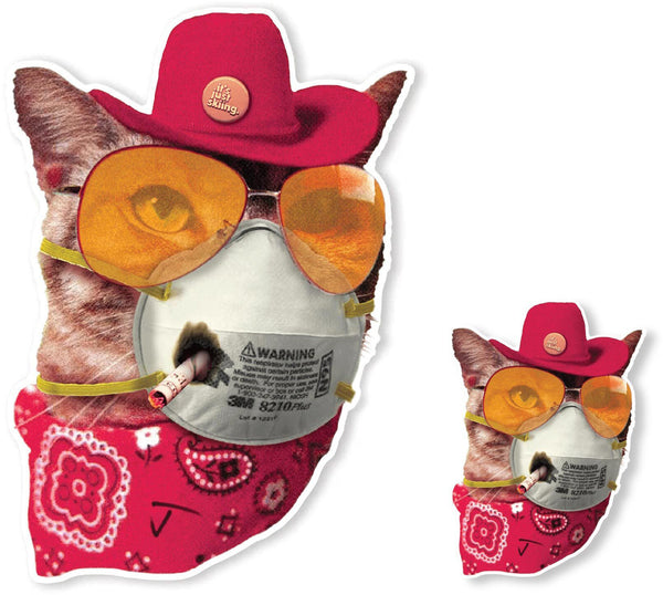 Cat Mask Sticker