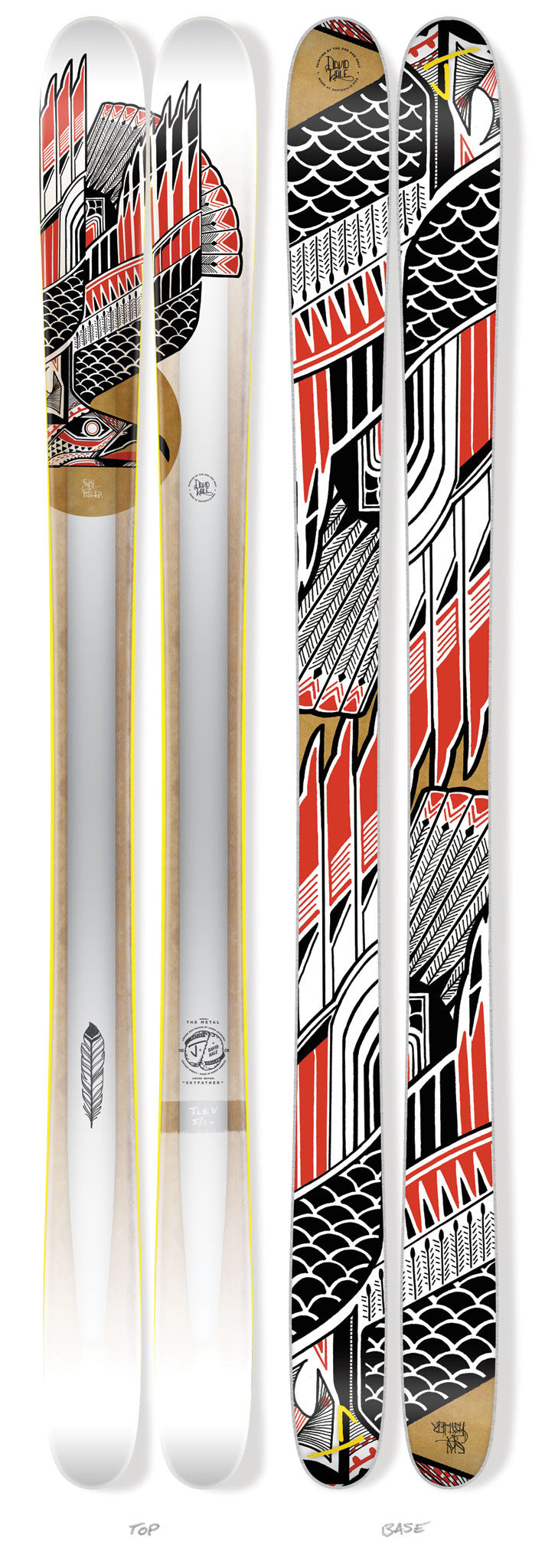 "The Metal ""SKYFATHER"" David Hale x J Collab Limited Edition Ski"