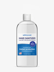 SafetyCoast 64 oz Liquid Hand Sanitizer Bottle Unscented (8 Bottles per case)