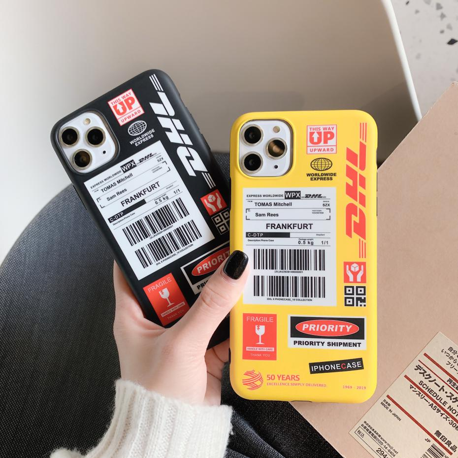 DHL Shipping Label Iphone Case