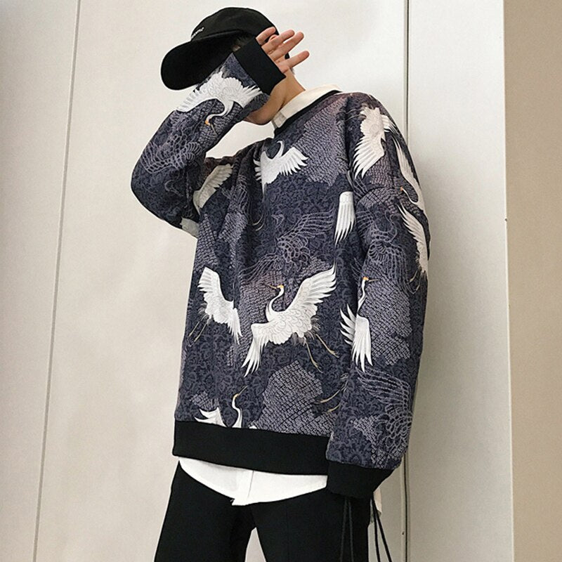 Crane Printed Sweater
