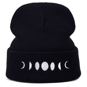 Phases of the moon beanie