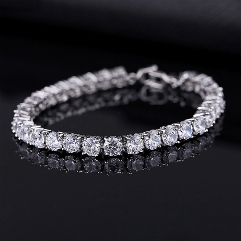 Luxury 4mm Cubic Zirconia Tennis Bracelet