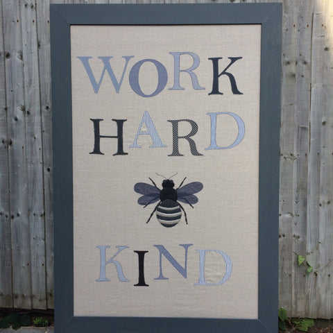WORK HARD 'B' KIND Wall hanging