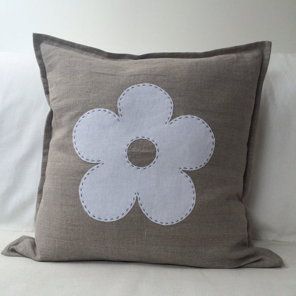 Linen Flower Cushion