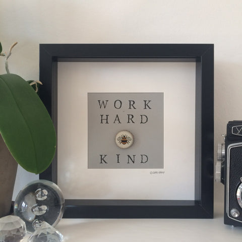 Work Hard be Kind - Black