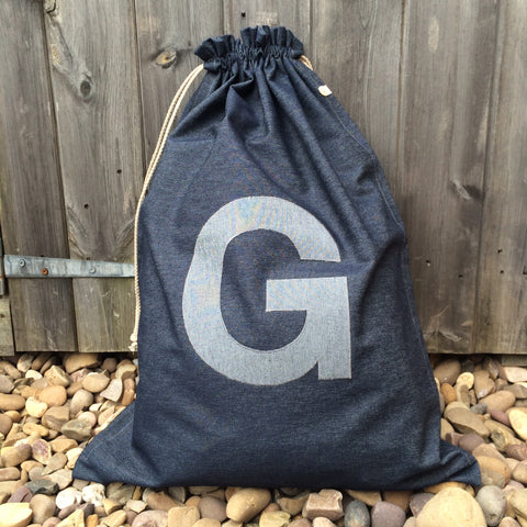 Drawstring Bag Denim