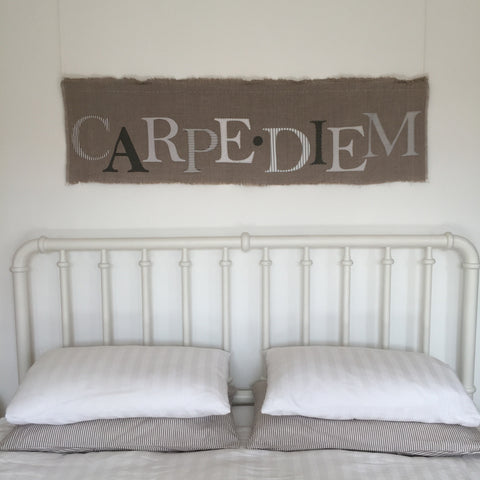 CARPE DIEM Wallhanging (nat)