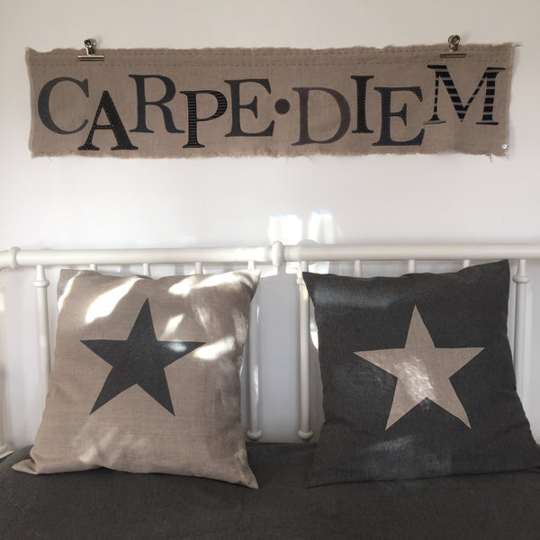 CARPE DIEM Wallhanging (charcoal)