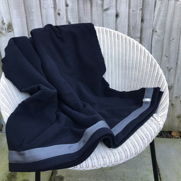 Wool Blanket (navy/grey)