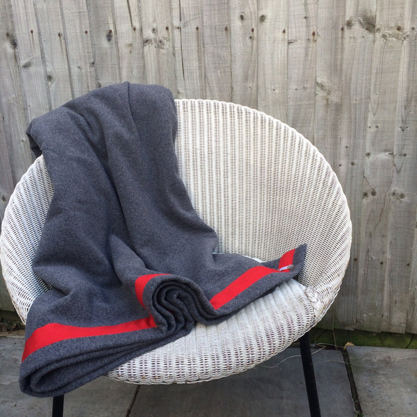 Wool Blanket (dark grey/red)