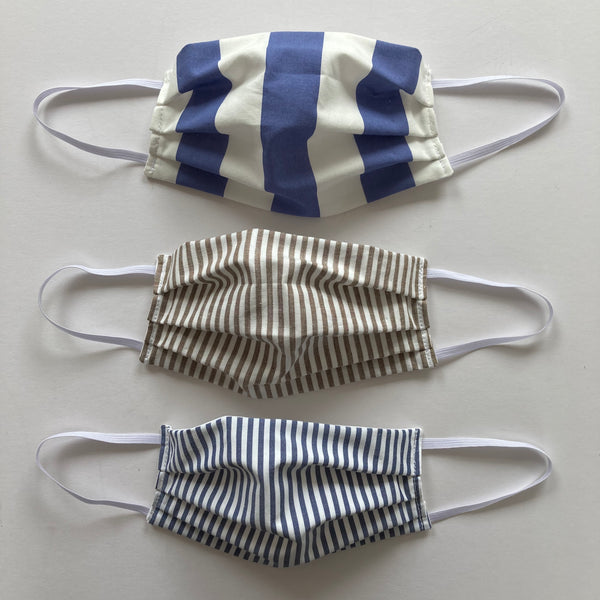 TWO Face Masks (stripes)