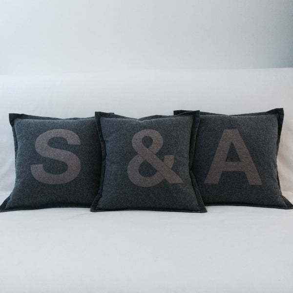 Personalised Letter Cushion, Cotton