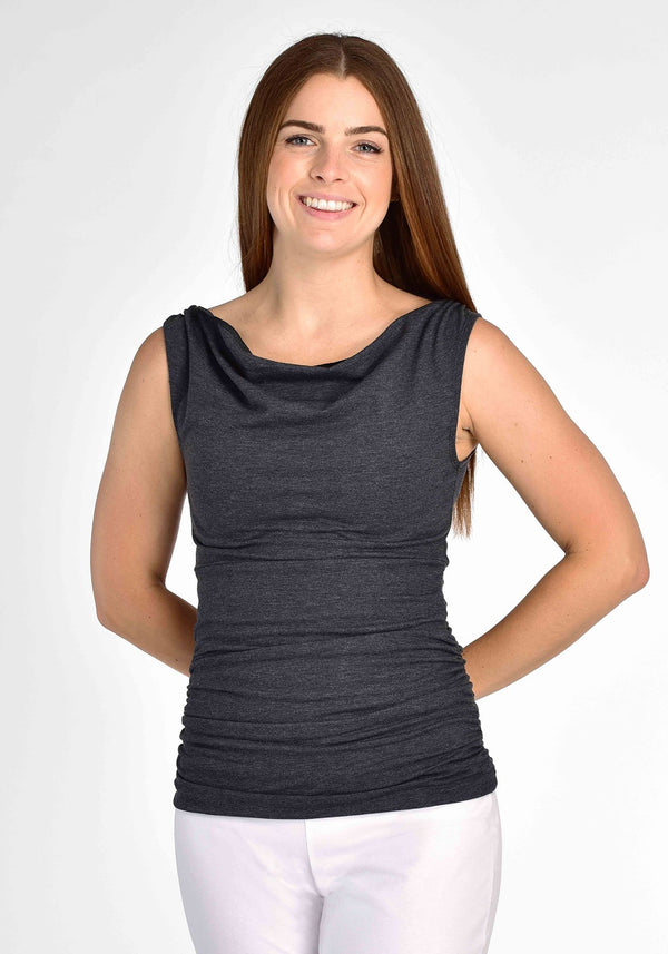 FLORA - Heather grey tank top