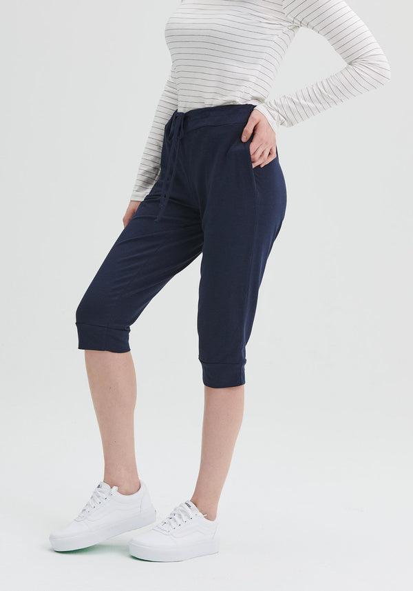 DAISY - Navy cropped pants