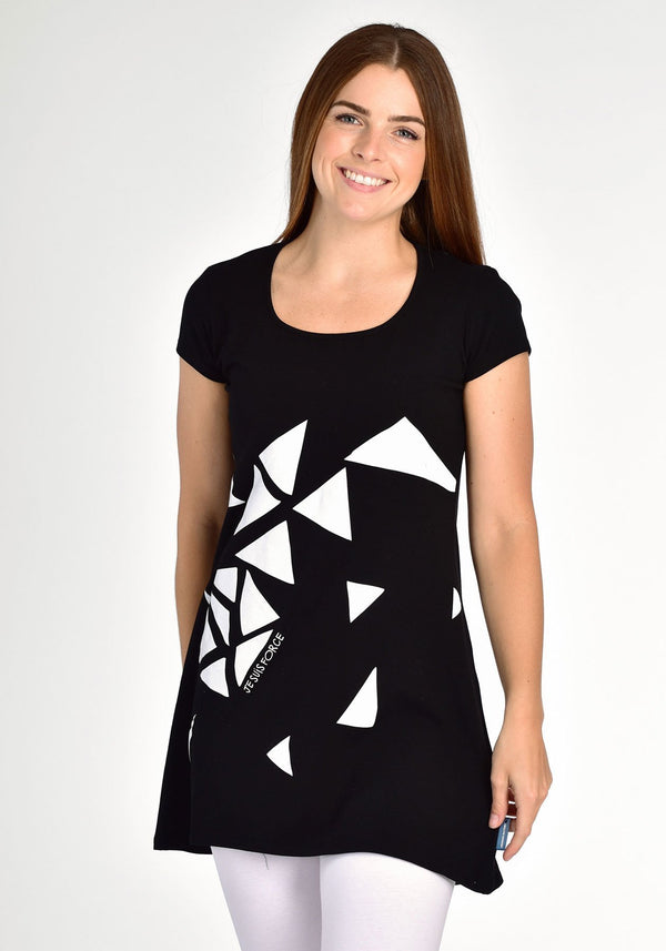 ANEMONE - Black and white tunic