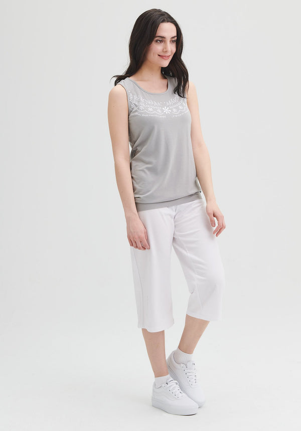 gray tank top organic cotton