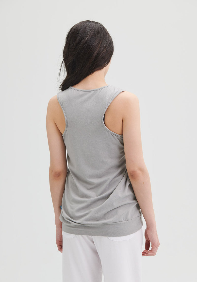 dos camisole grise