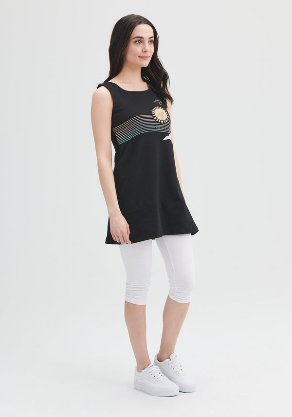 FOUGERE - Black sleeveless tunic