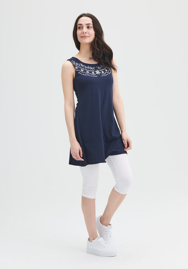 blue tunic bamboo