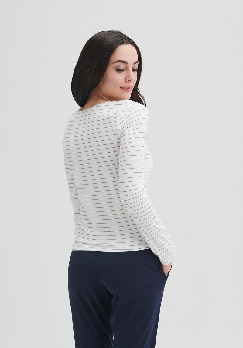 LYDIA - Striped long sleeve top
