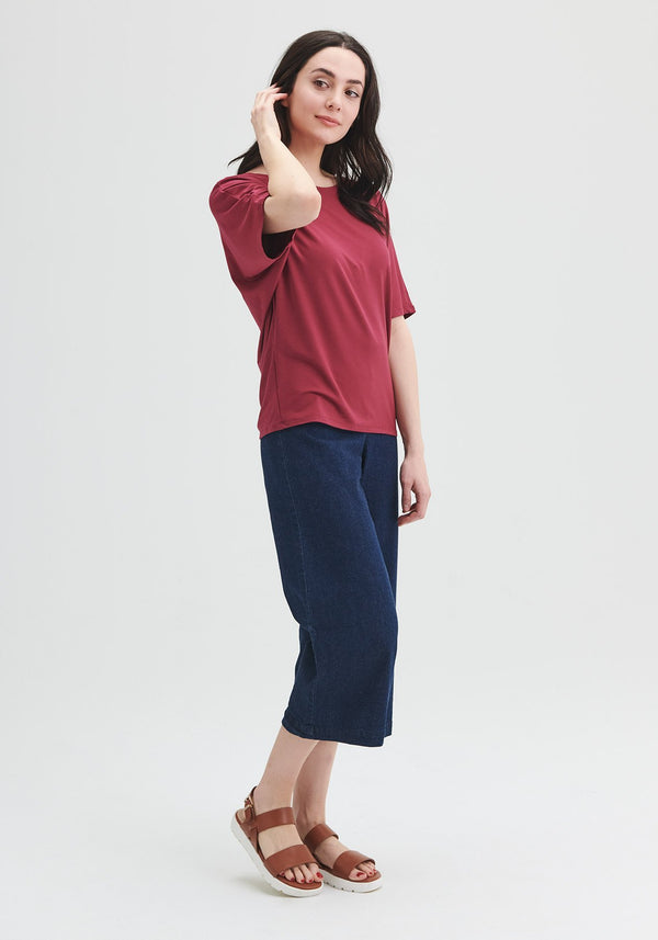 short sleeve top red