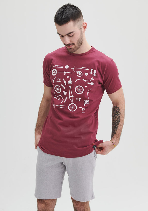 pieces velo rouge t-shirt