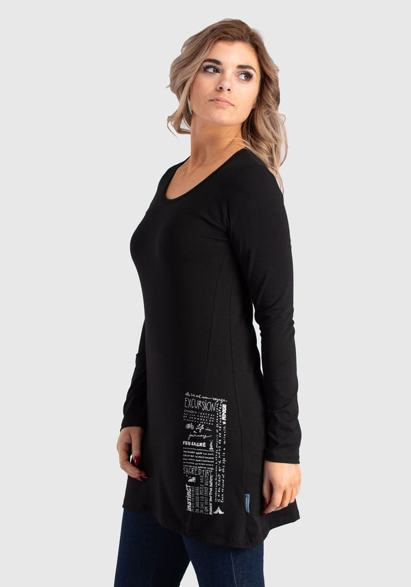 ANEMONE - Black tunic top