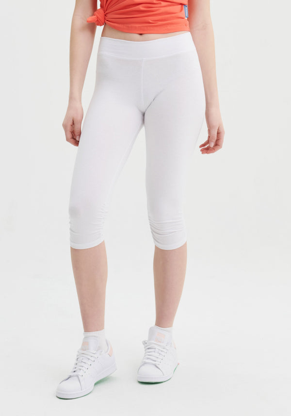 CORSAIRS - White cropped leggings