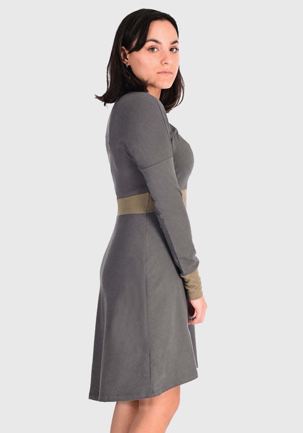 robe charcoal avec insertion