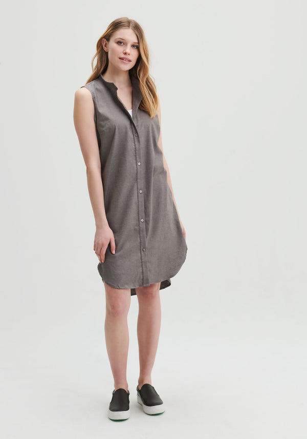 HOLLYHOCK - Grey buttoned down dress