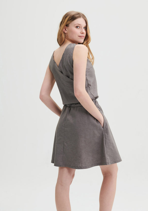 FREESIA - Grey sleeveless dress
