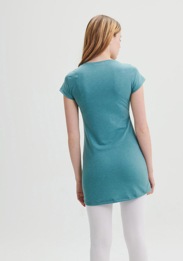 LAVENDER - Teal v-neck tunic