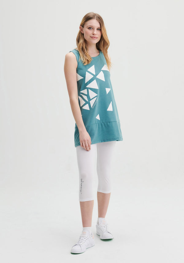 FOUGERE - Teal sleeveless tunic