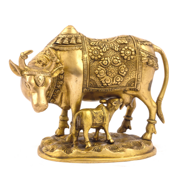 Brass Cow & Calf, Vintage Finish