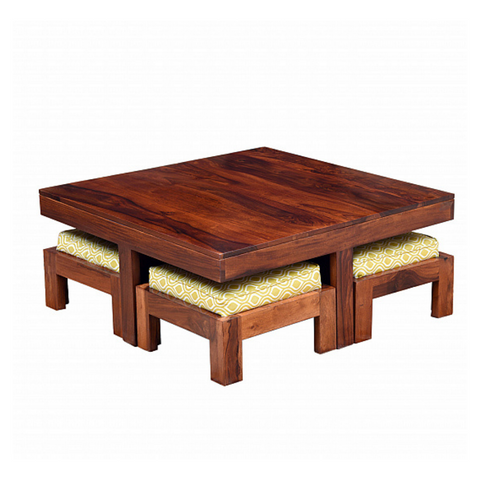 Asana Plain Coffee Table with Seating