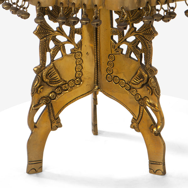 Carved Brass Utility Table
