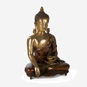 Buddha Idol in Bronze Finish
