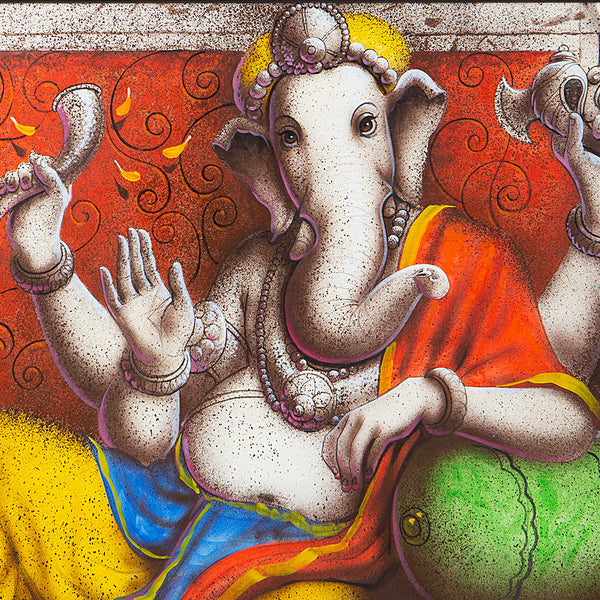 Lord Ganesha In Primary Hues