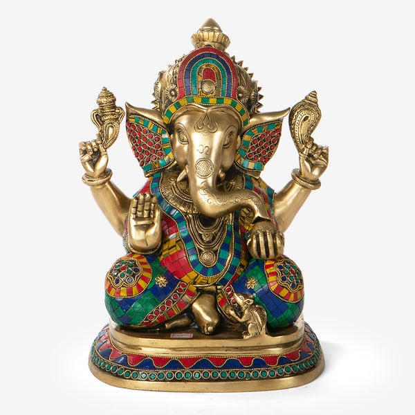 Ganesha Idol with Meenakari Work