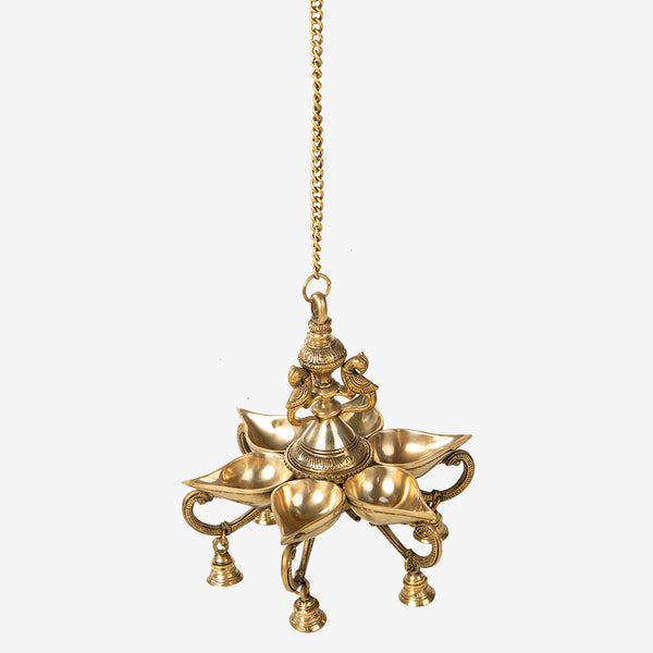 Hanging Brass Lamp