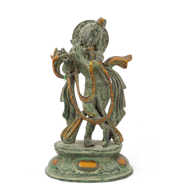 Brass Krishna in Vintage Finish