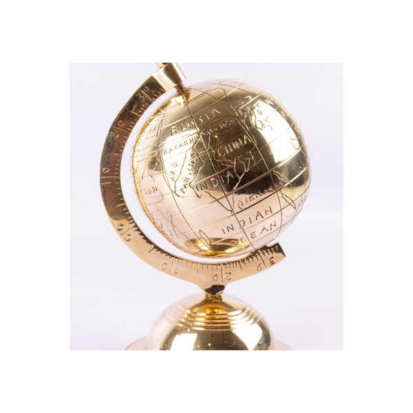 Brass Globe Table Accent