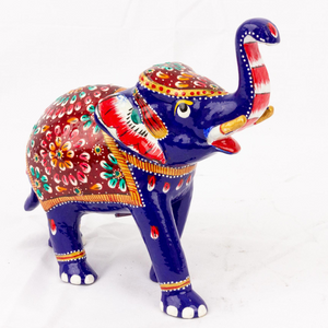 Hand Painted Metal Elephant