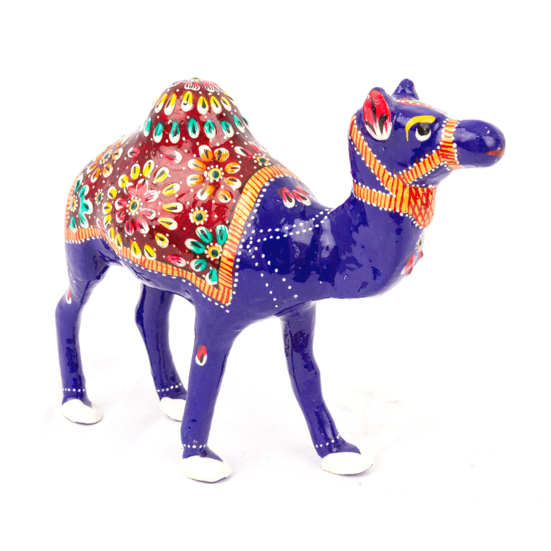 Hand Painted Metal Camel