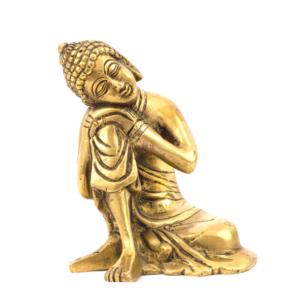 Brass Sitting Buddha Idol